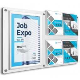 Aluminium Composite Material Wall Mounted Poster and Brochure Display