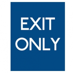 Exit Only Blue Background - Pack of 10 - A2 Poster or Sticker
