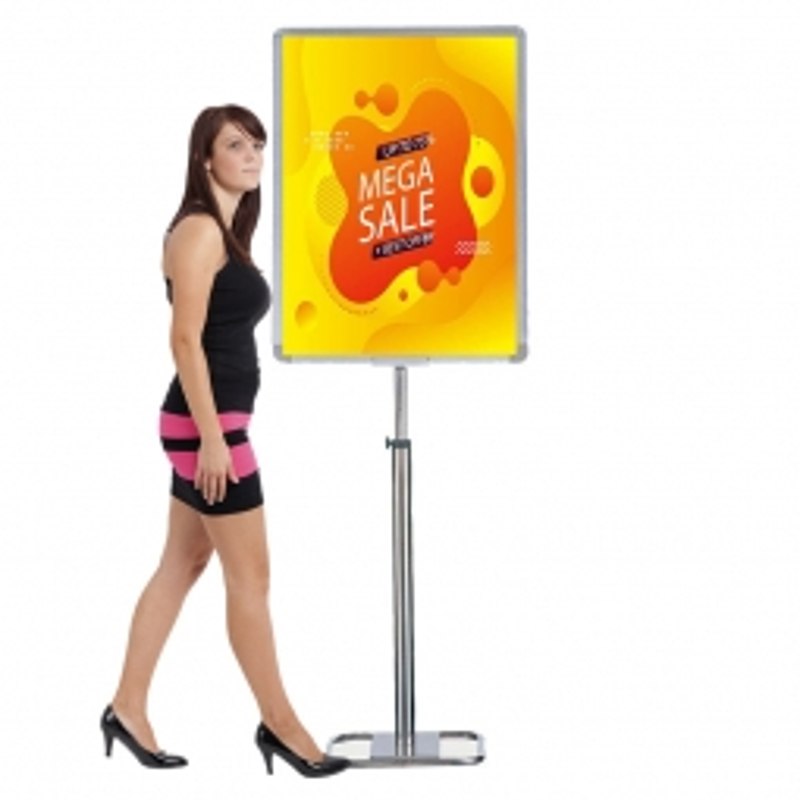 Extra Large Floor Standing Slide-in Poster Holder