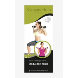 Fitness Banner 8 - Banner Stand 107