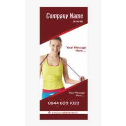 Fitness Banner 9 - Banner Stand 108
