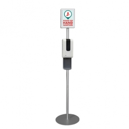 Automatic Hand Sanitising Unit with A4 Poster Frame