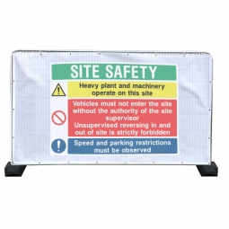 Heras Site Safety Banners
