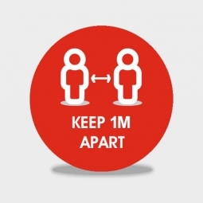 Keep 1m Apart social distancing floor stickers