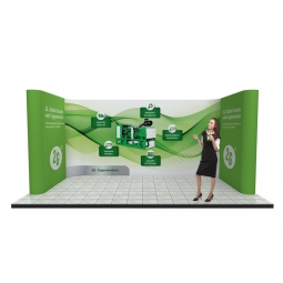 U shaped pop up system for 3m x 5m stands
