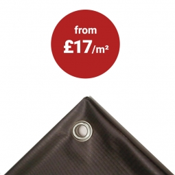 PVC banner with turned edges and hanging eyelets