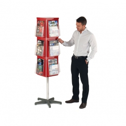 4 Sided Rotating Brochure Display Stand