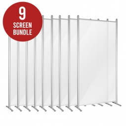 Social Distancing Protective Screens - Set of 9 Screens - Expolite