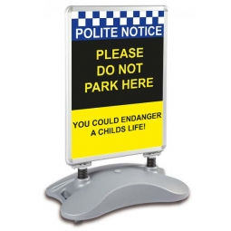 School A1 Windjammer Pavement Sign - Please Do Not Park Here