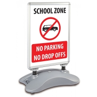 School A1 Windjammer Pavement Sign - No Parking Or Drop Off's