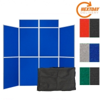 8 Panel Folding Portable Display System
