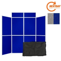8 Panel Titan Folding Display Board - Aluminium Frame