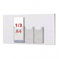 Cable System Leaflet Dispenser - 3 x 1/3 A4 on A2 Centre