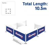 Eco Barrier Kit - 7 Banners / 8 Posts