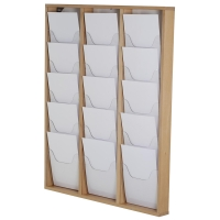Wooden Wall Mounted Brochure Rack