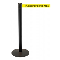 Retractable Safety Barrier System - Black