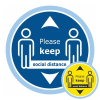 Please Keep Social Distance Floor Sticker - Pack of 6