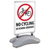 School A1 Windjammer Pavement Sign - No Cycling In School Grounds