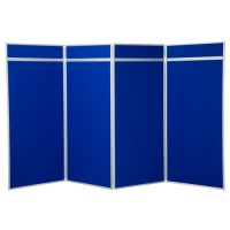 4 Panel Jumbo Folding Display - Aluminium Frame