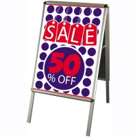 A2 Retail Sign Boards - Sign Only - Silver