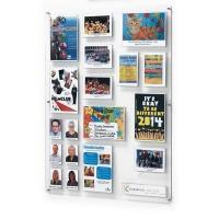 Polycarbonate pocket notice board