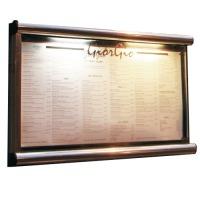 Battery powered illuminated menu case