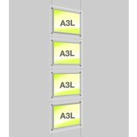 A3 Landscape Illuminated Display