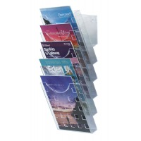 Clear Premier Wall Mounted Literature Display