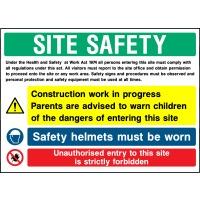 Individual Site Safety Multi Message Construction Work In Progress Sign - Correx | Foamex | Dibond
