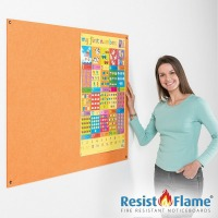 Flame Resistant Pinnable Frameless Notice Board