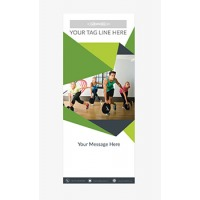 Fitness Banner 1 - Banner Stand 100