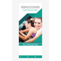 Fitness Banner 4 - Banner Stand 103