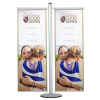 Dual Banner Stand Banner Holder