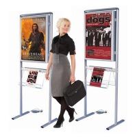Floor standing light box poster display stand