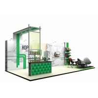 Large modular backwall exhibition stand
