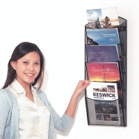 Wire Wall Mounted Brochure Dispenser