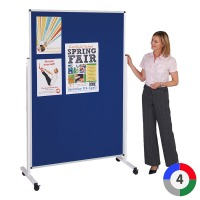 Double Sided Mobile Noticeboard