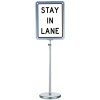 Exclusive Freestanding sign holder made from durable stainless steel