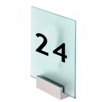 Acrylic Door Sign with Clamp Mount