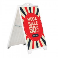 Plastic A-Frame Pavement Sign with Printed Vinyl Graphics