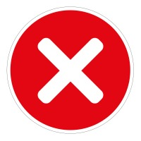 No Entry Cross Red Background Floor Stickers - Pack of 6