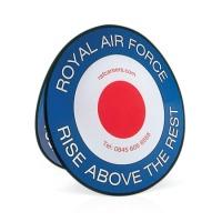 Circular pop out banner
