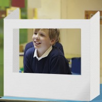 Plain School Desk Divider with Clear Window - Pack of 20