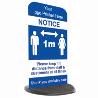 Social Distancing Ecoflex Pavement Sign - Add Your Logo