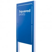 Post mounted signs with square poles