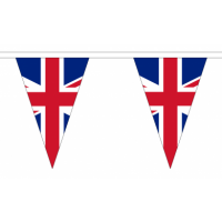Union Jack Triangle Bunting - 54 flags / 20m Length