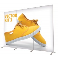 Fabric back wall modular exhibition stand