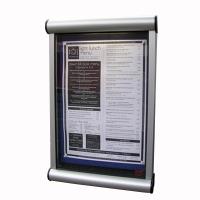 Wall mounted menu case