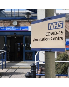 NHS Vaccination Centre Correx Signs - 198mm x 298mm