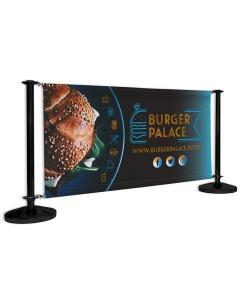Duo Standard Cafe Barrier - Black Post